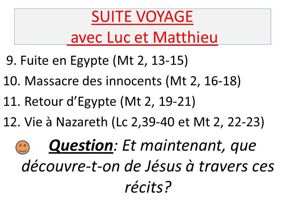 SUITE VOYAGE avec Luc et Matthieu