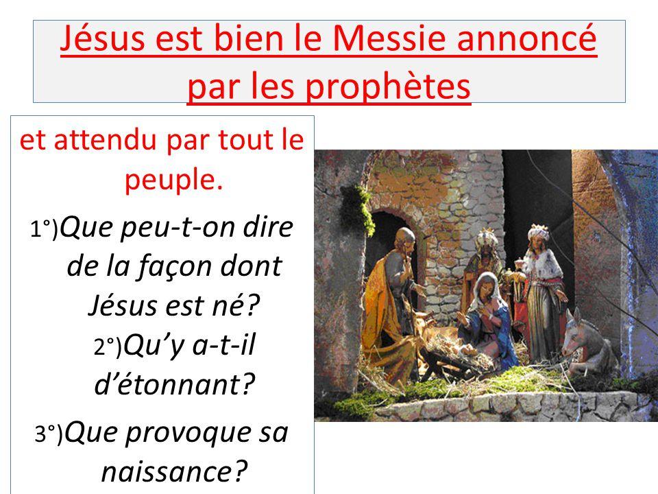 Jésus est bien le Messie annoncé par les prophètes