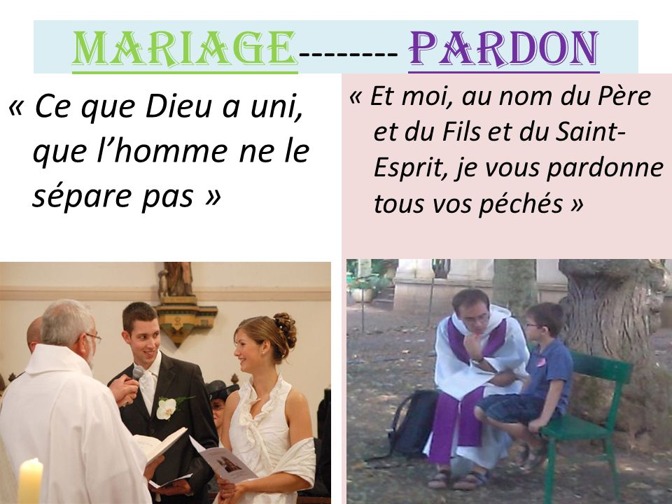 Mariage-------- Pardon