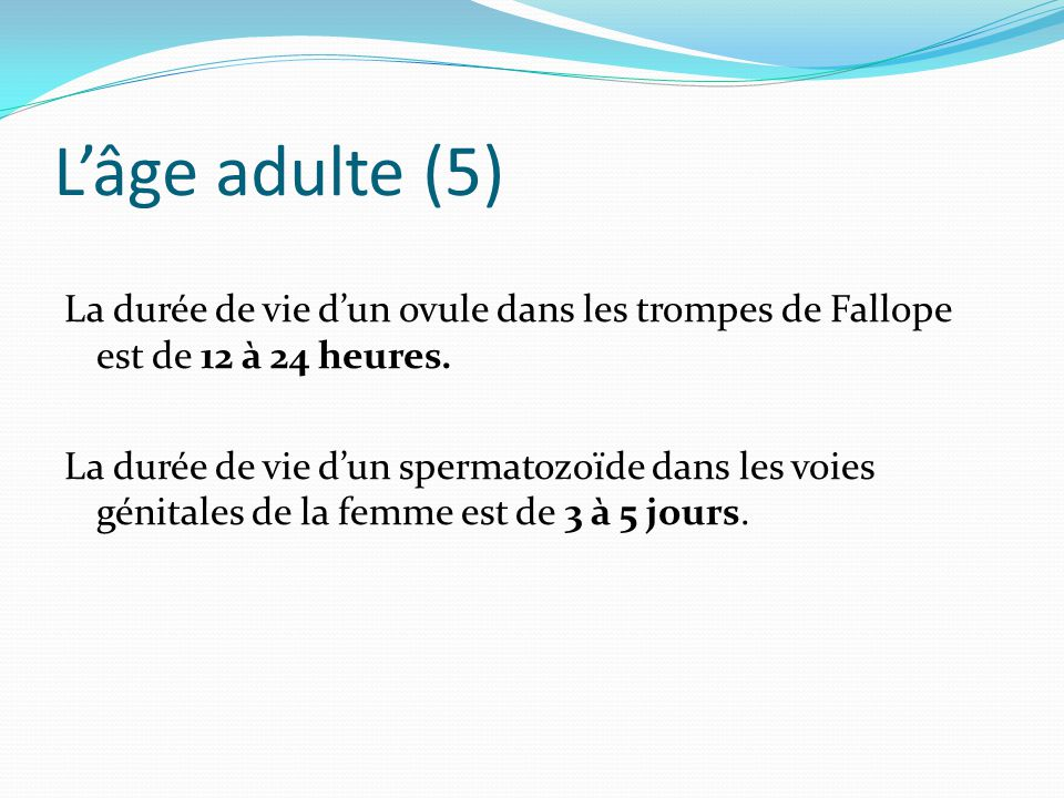 Anatomie physiologie appareil genital ppt video online for Duree de vie d un cumulus