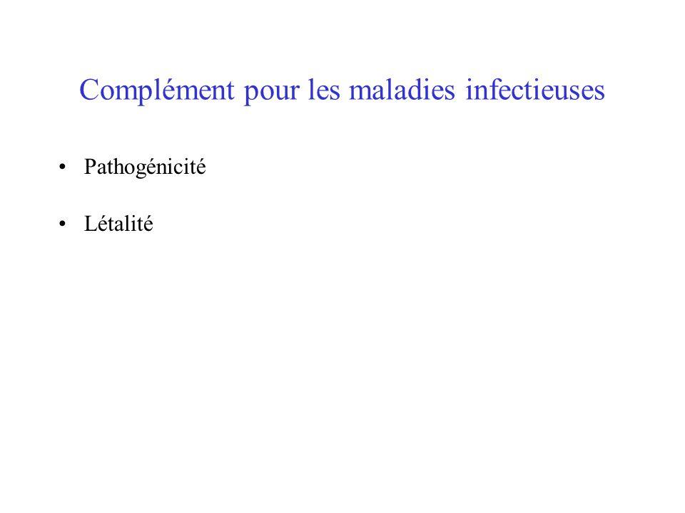 Complément pour les maladies infectieuses