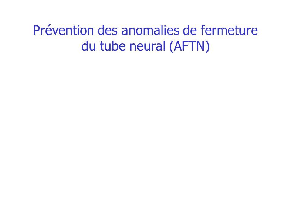 Prévention des anomalies de fermeture du tube neural (AFTN)