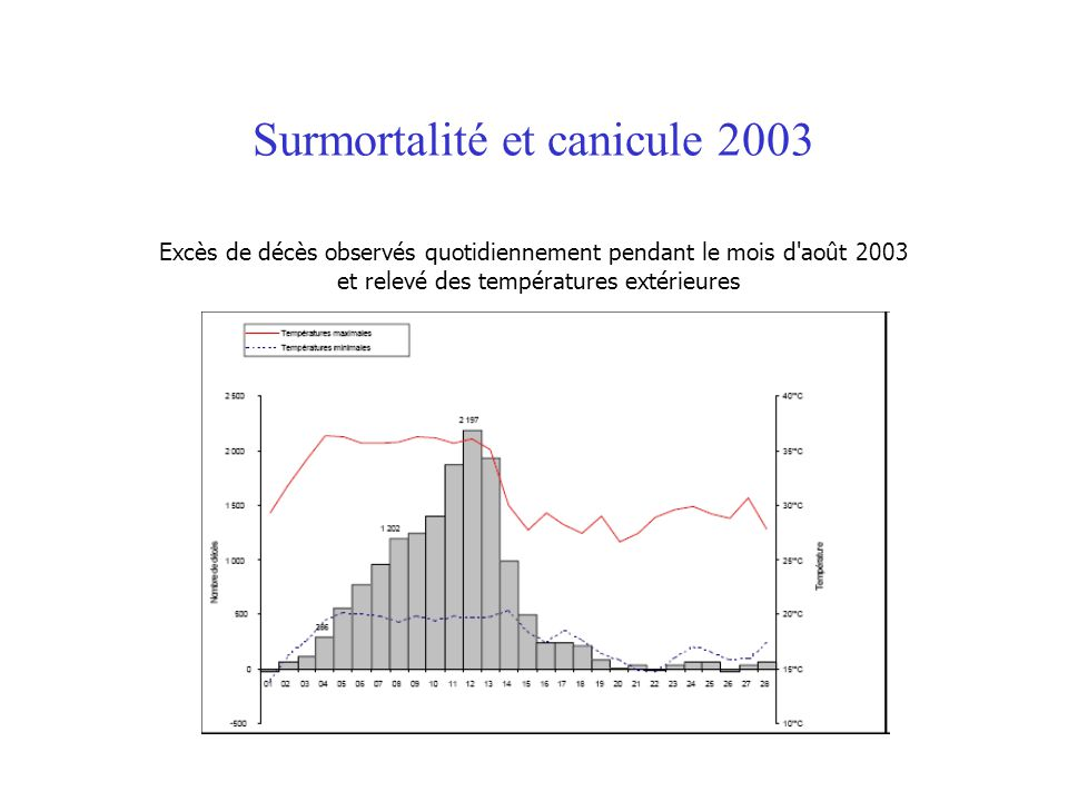 Surmortalité et canicule 2003