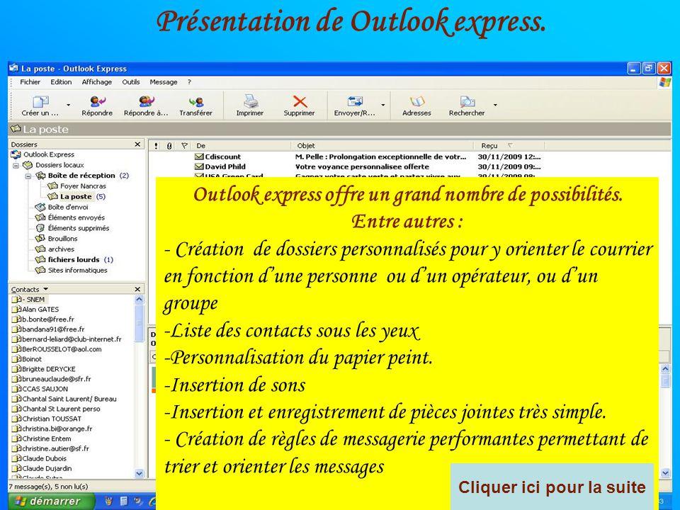 Présentation de Outlook express.