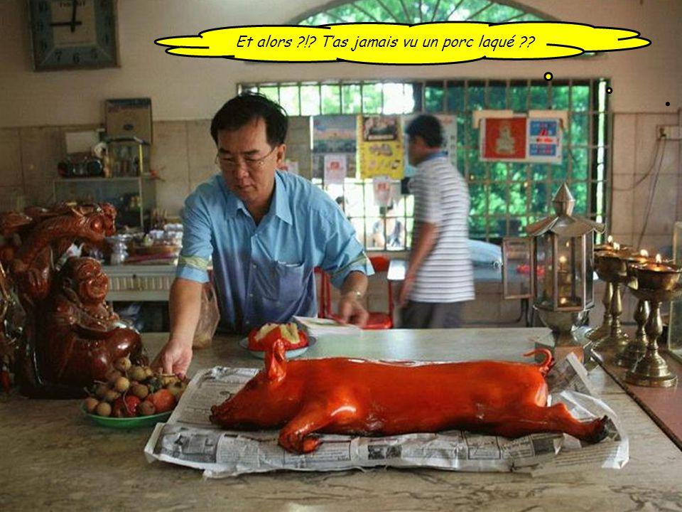 Et alors ! T'as jamais vu un porc laqué