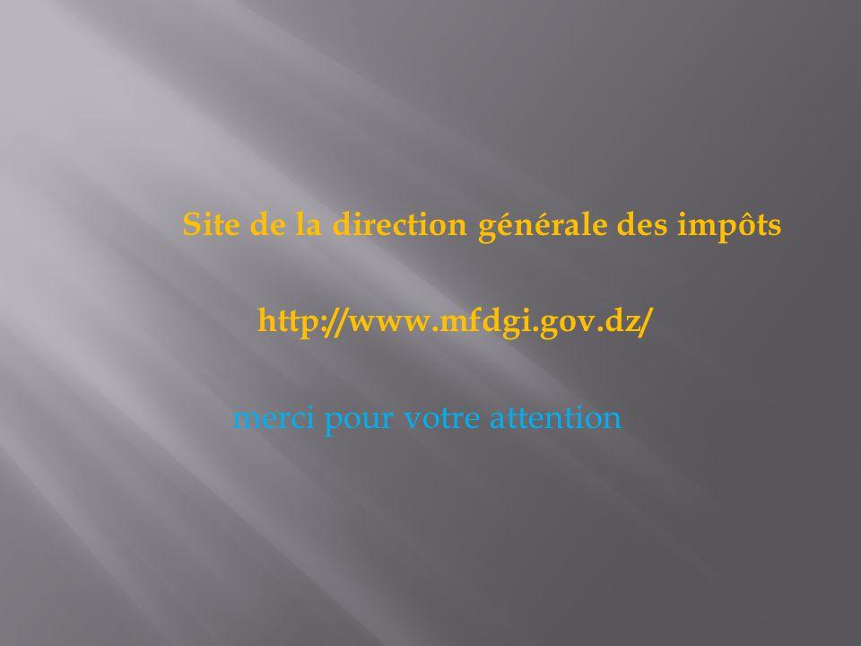 Site de la direction générale des impôts http://www. mfdgi. gov