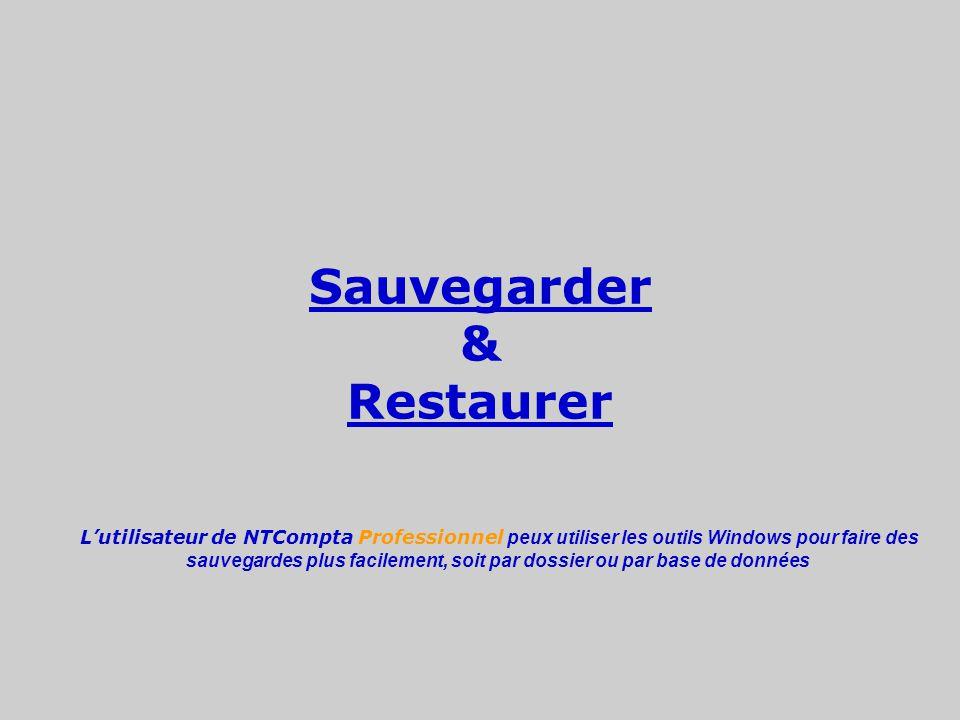 Sauvegarder & Restaurer