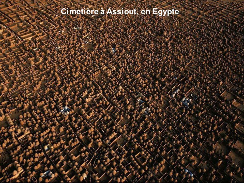 Cimetière à Assiout, en Egypte