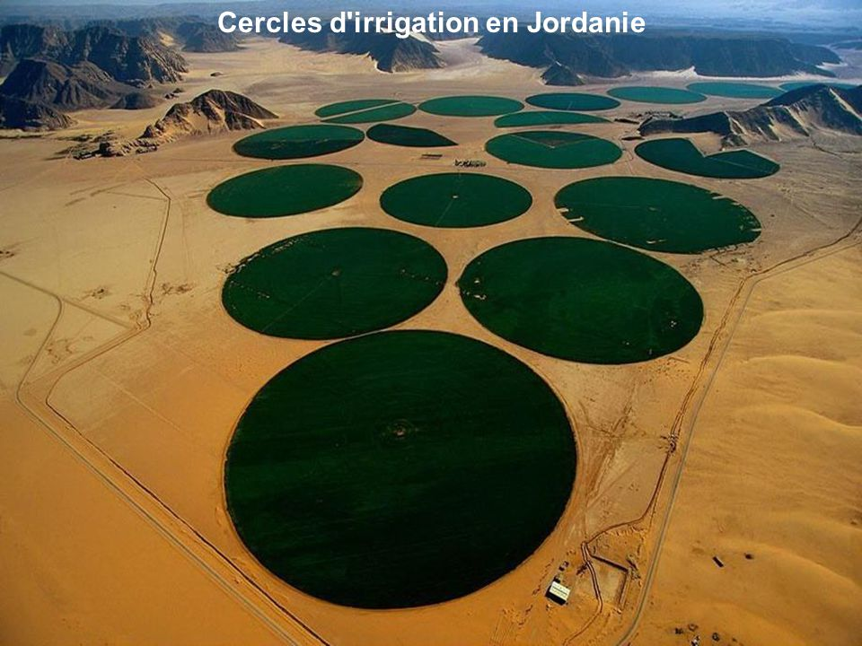 Cercles d irrigation en Jordanie