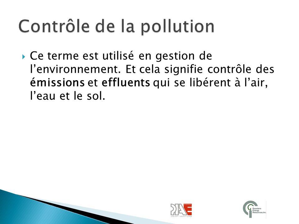 Contrôle de la pollution