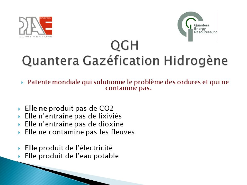 QGH Quantera Gazéfication Hidrogène