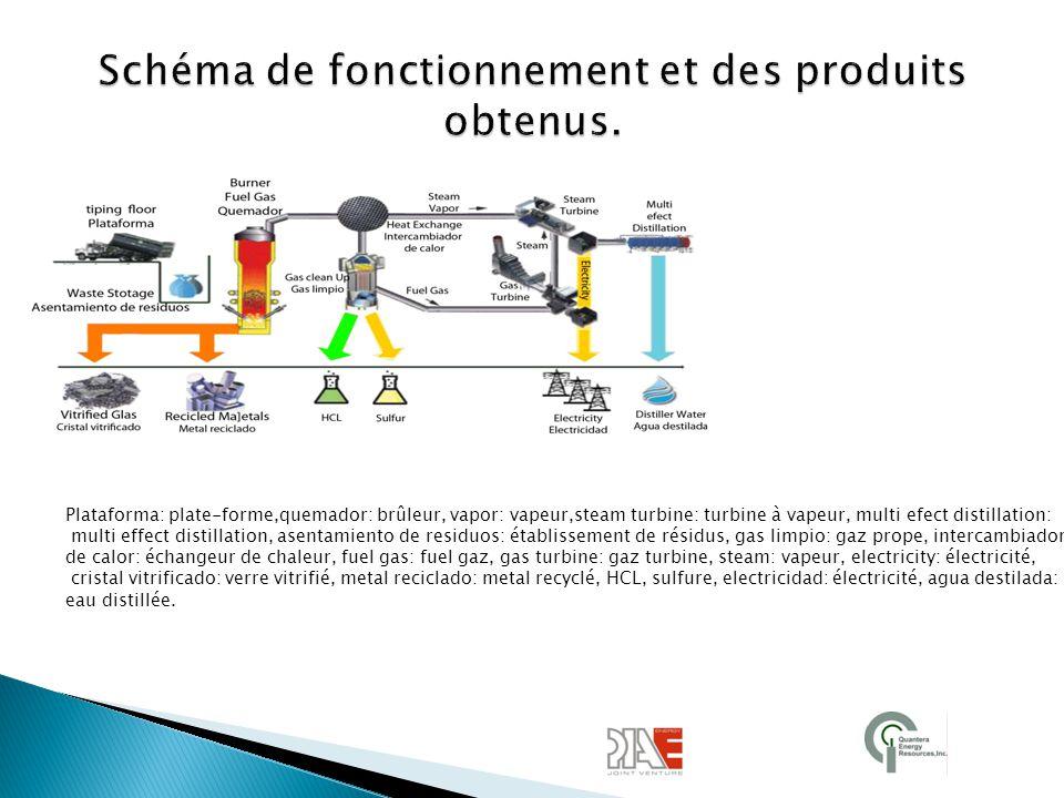 Schéma de fonctionnement et des produits obtenus.