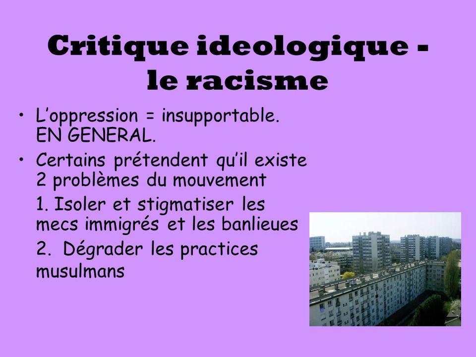 Critique ideologique - le racisme
