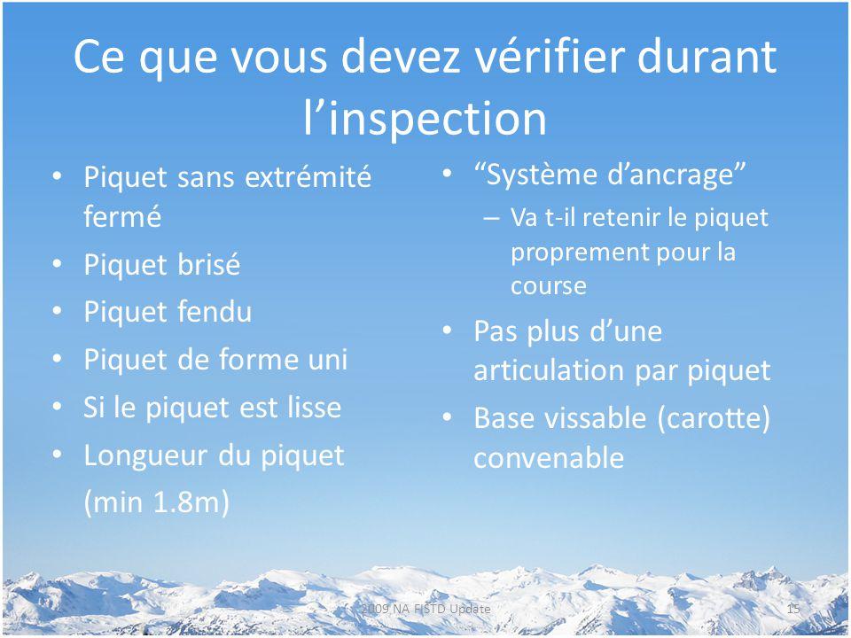 Ce que vous devez vérifier durant l'inspection