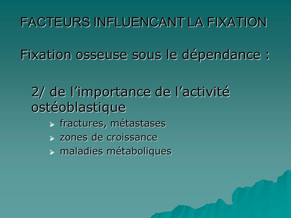 FACTEURS INFLUENCANT LA FIXATION