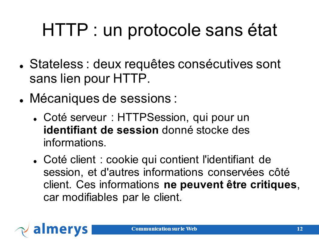 HTTP : un protocole sans état