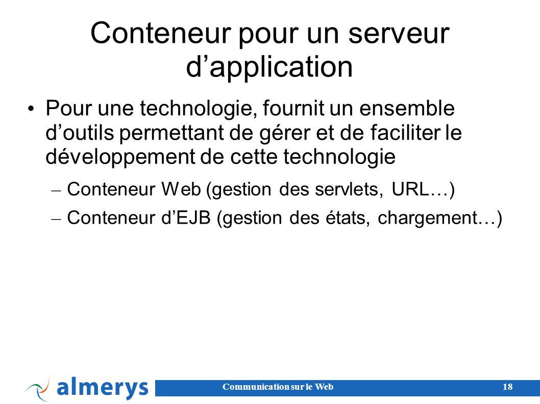 Conteneur pour un serveur d'application