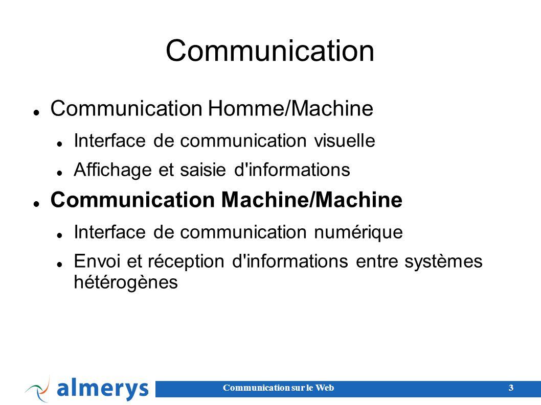 Communication Communication Homme/Machine