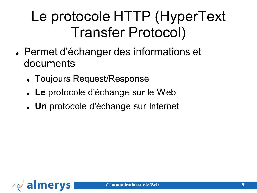 Le protocole HTTP (HyperText Transfer Protocol)