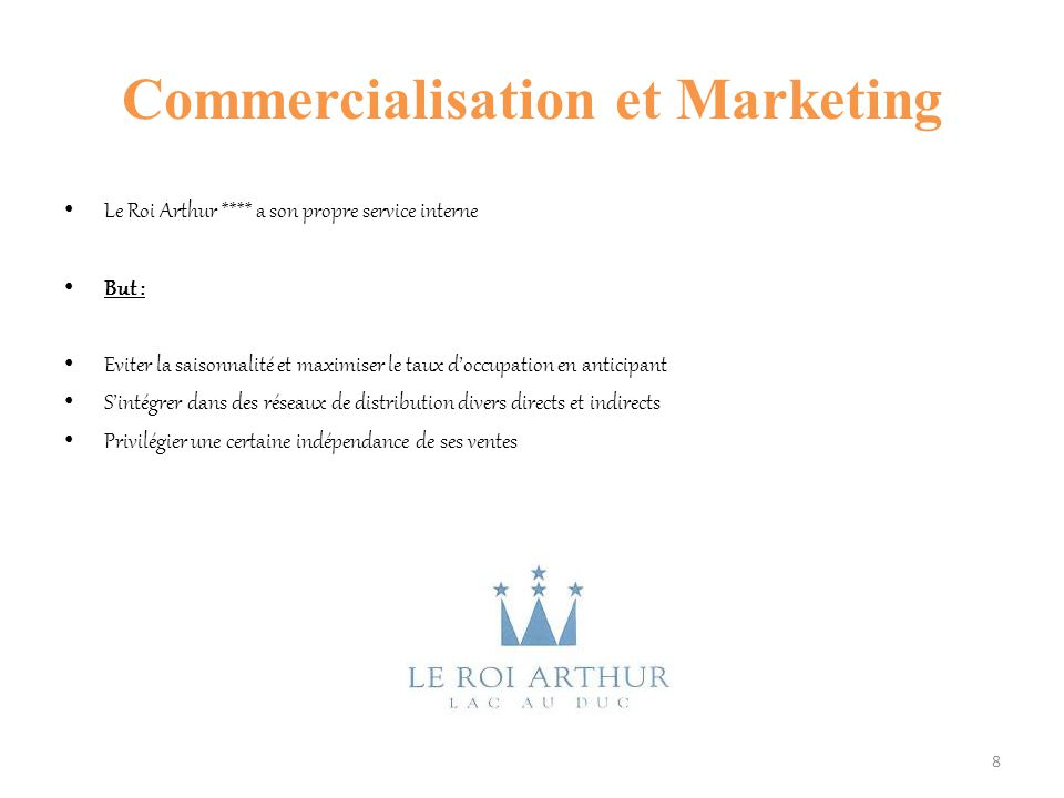 Commercialisation et Marketing