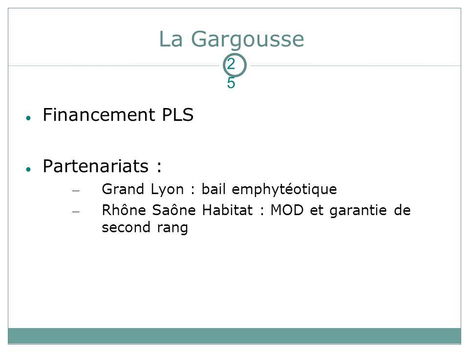 La Gargousse Financement PLS Partenariats : 2525