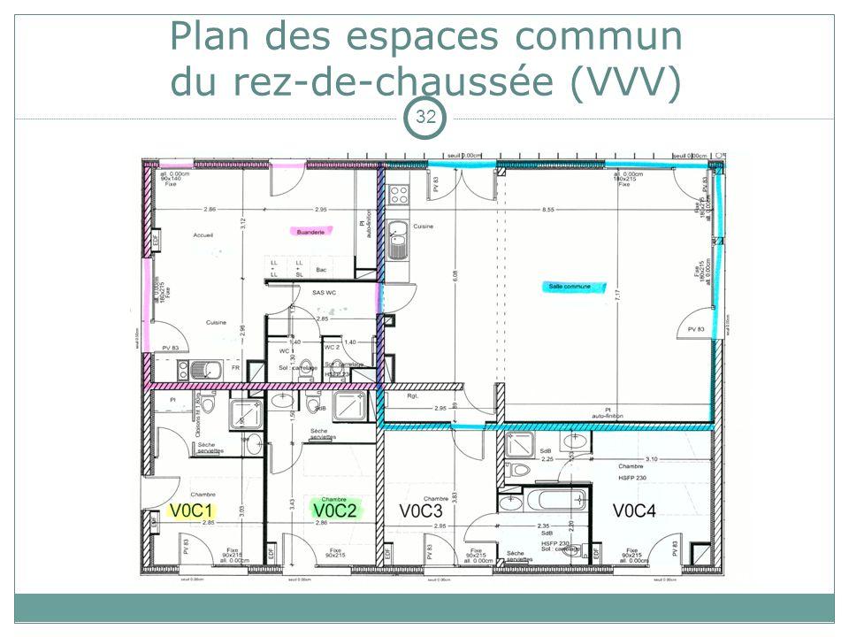 Plan des espaces commun du rez-de-chaussée (VVV)