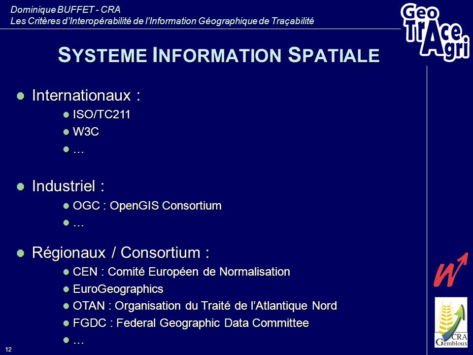 SYSTEME INFORMATION SPATIALE