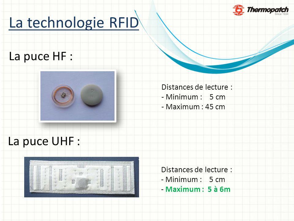 La technologie RFID La puce HF : La puce UHF : Distances de lecture :