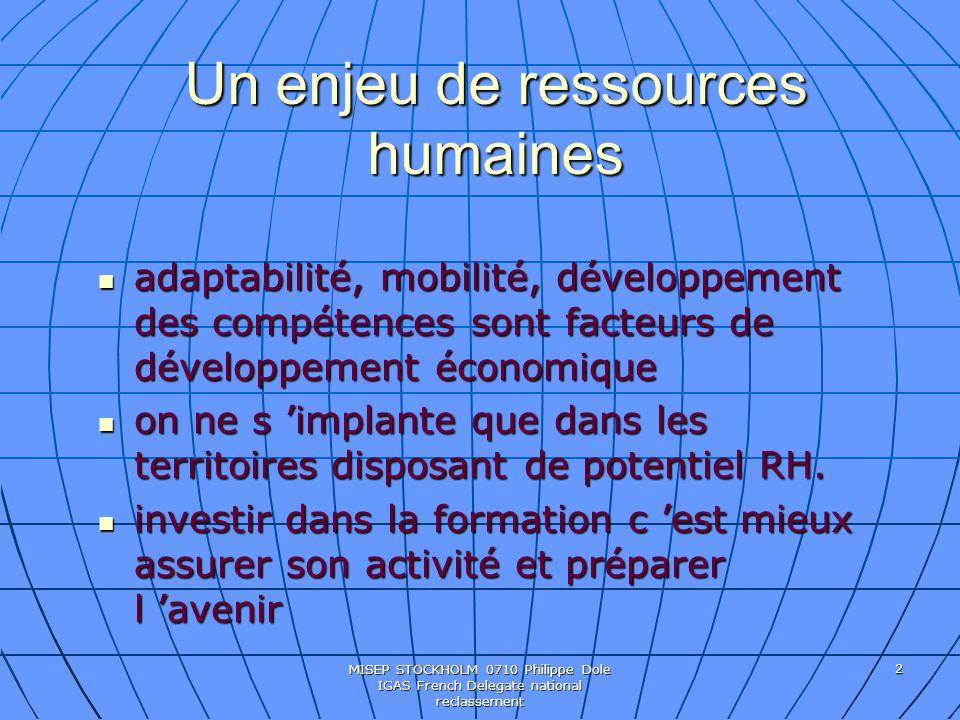 Un enjeu de ressources humaines