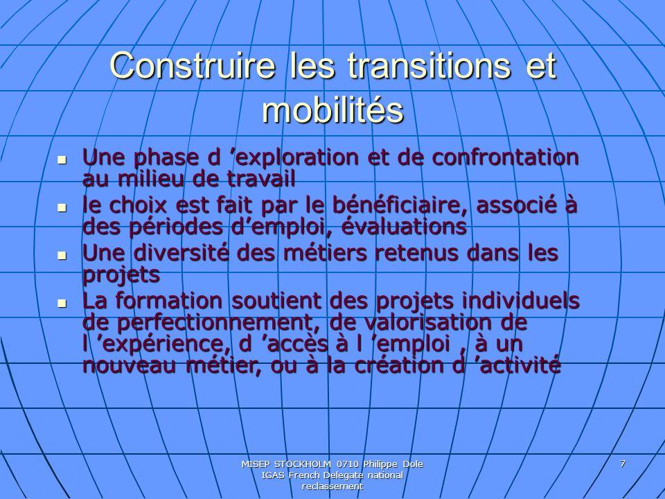 Construire les transitions et mobilités