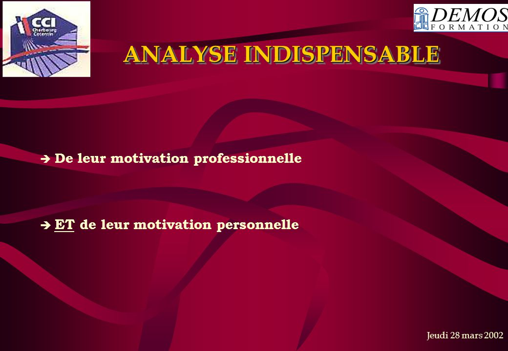 ANALYSE INDISPENSABLE