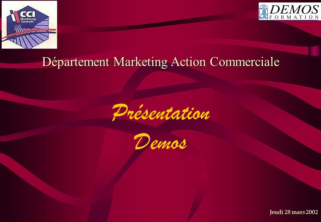 Département Marketing Action Commerciale