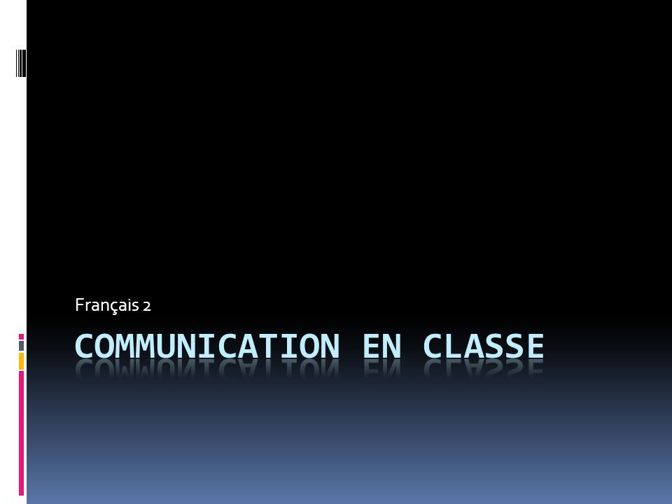 Communication en classe