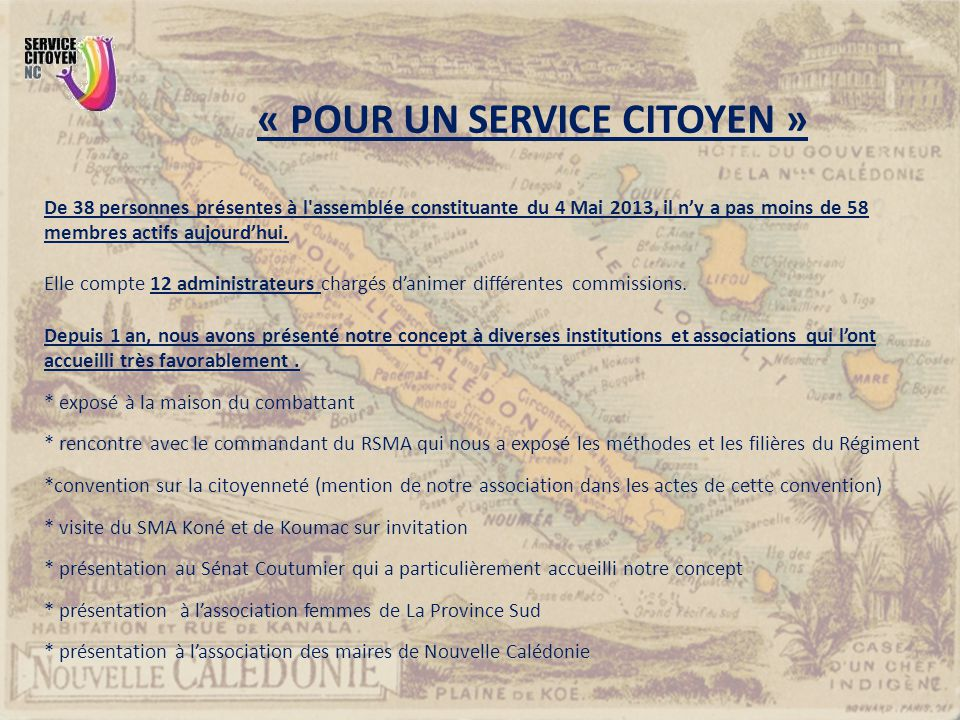 « POUR UN SERVICE CITOYEN »