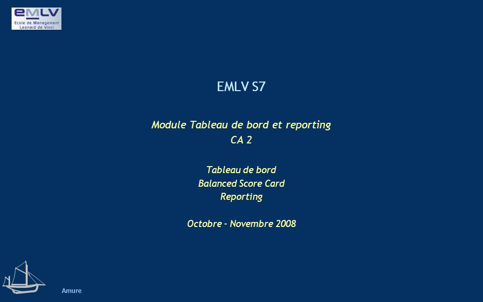 Module Tableau de bord et reporting