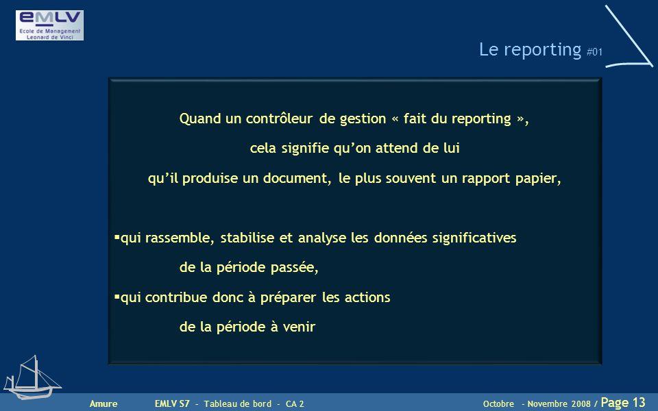 Le reporting #01 Quand un contrôleur de gestion « fait du reporting »,