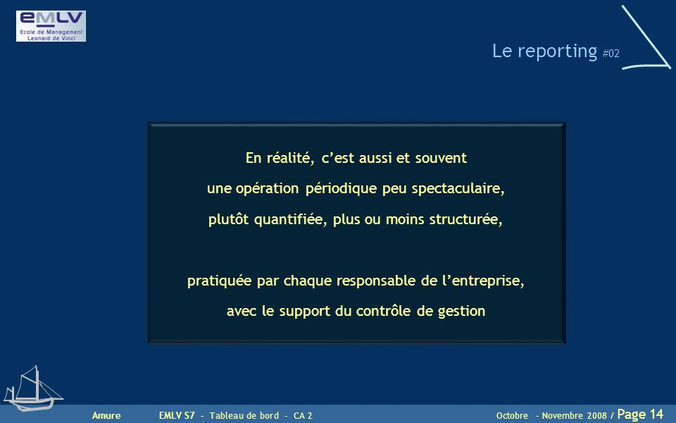 Le reporting #02