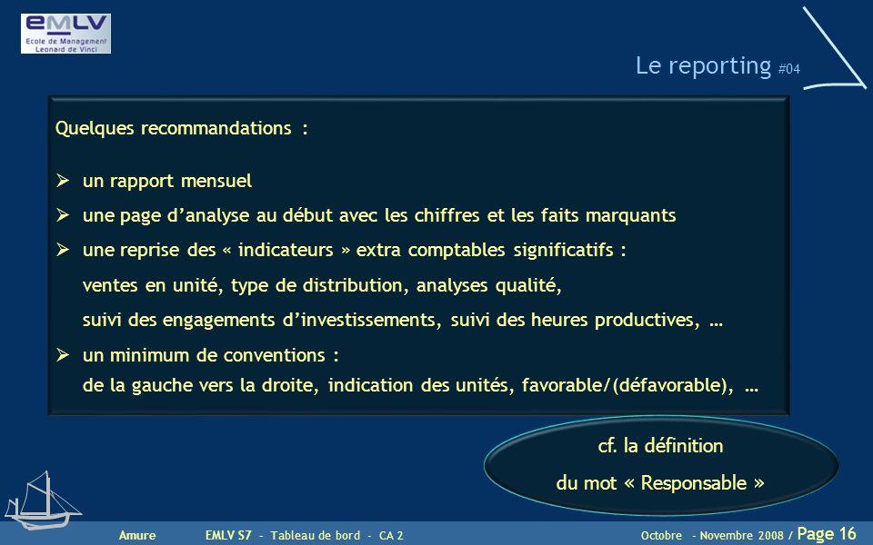 Le reporting #04 Quelques recommandations : un rapport mensuel