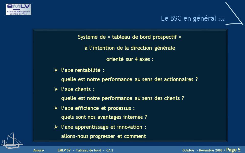 Le BSC en général #02 Système de « tableau de bord prospectif »