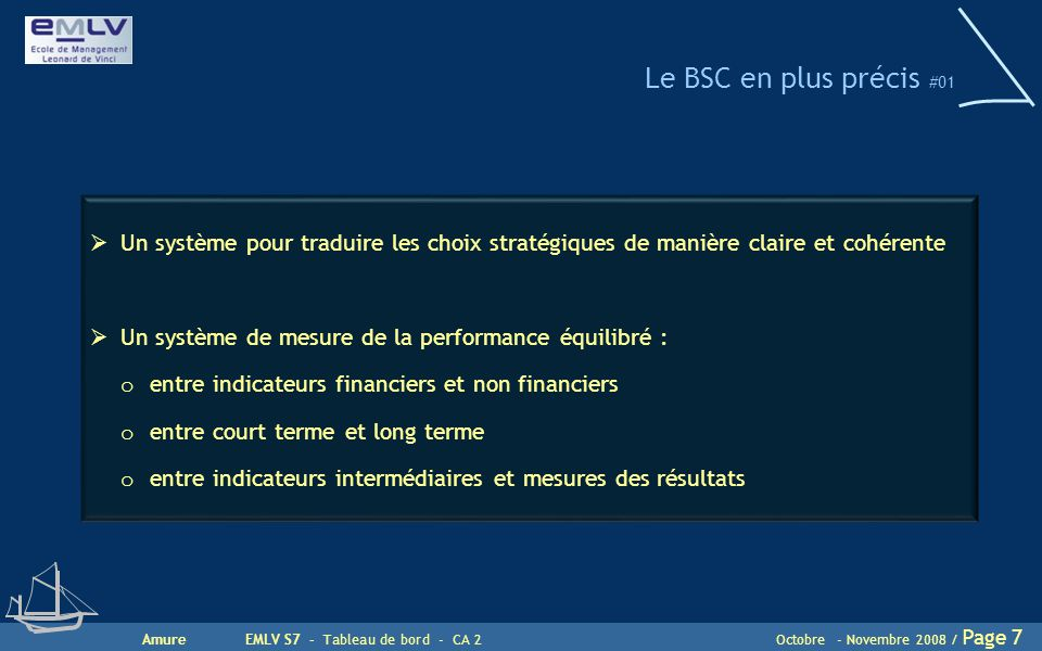 Le BSC en plus précis #01 Un système pour traduire les choix stratégiques de manière claire et cohérente.