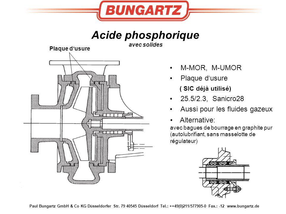 Acide phosphorique avec solides