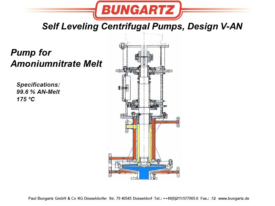 Self Leveling Centrifugal Pumps, Design V-AN