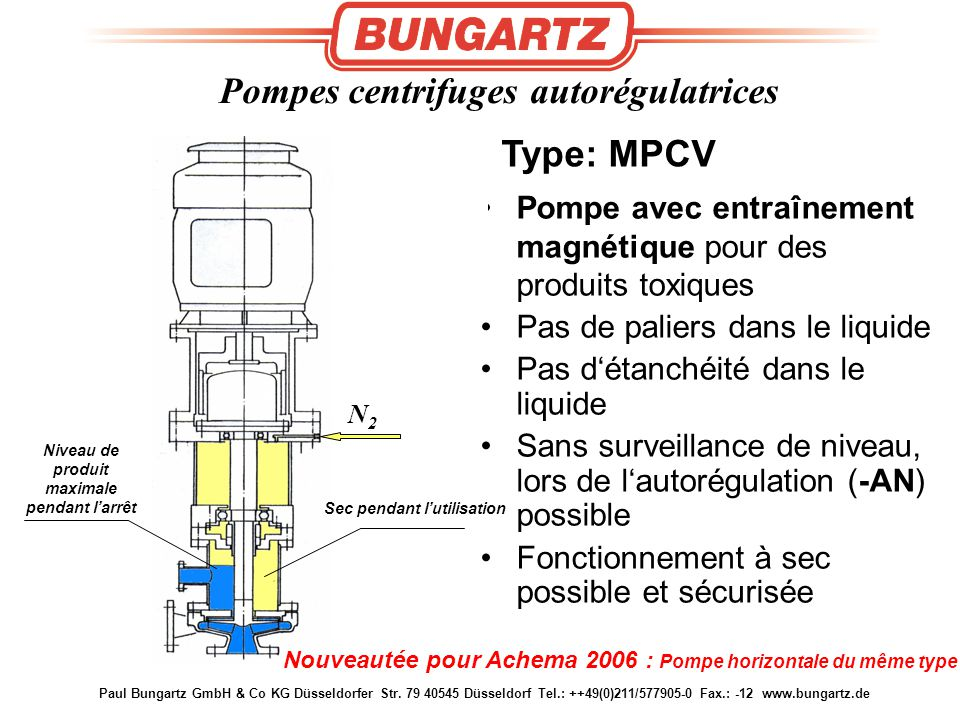 Pompes centrifuges autorégulatrices