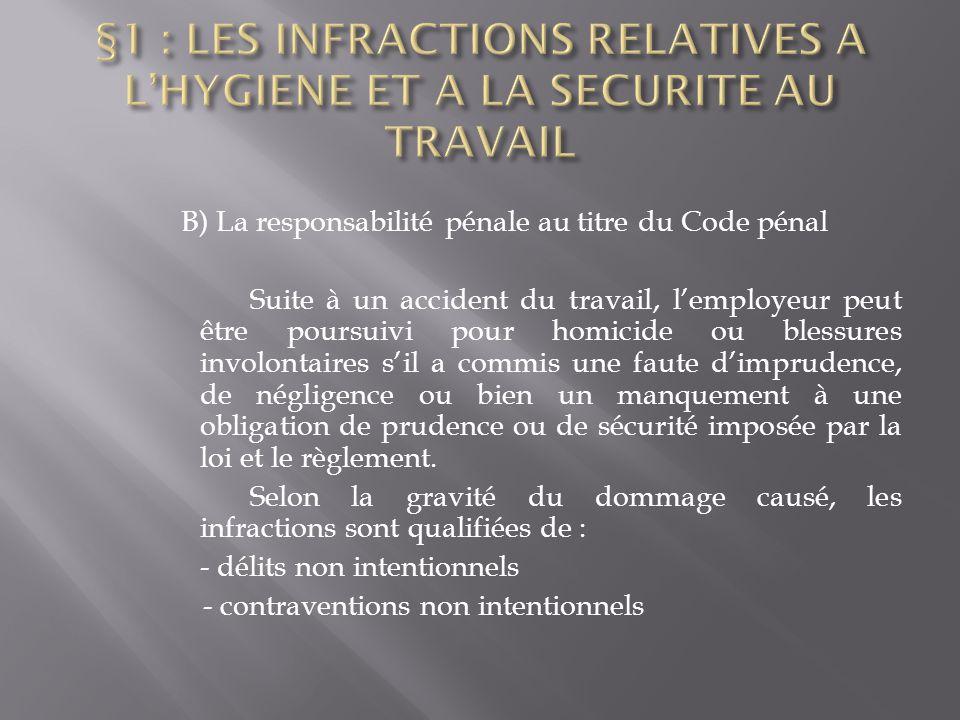 Td n 2 la responsabilite penale de l employeur ppt - Coups et blessures volontaires code penal ...