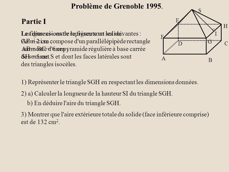 b) En déduire l aire du triangle SGH.