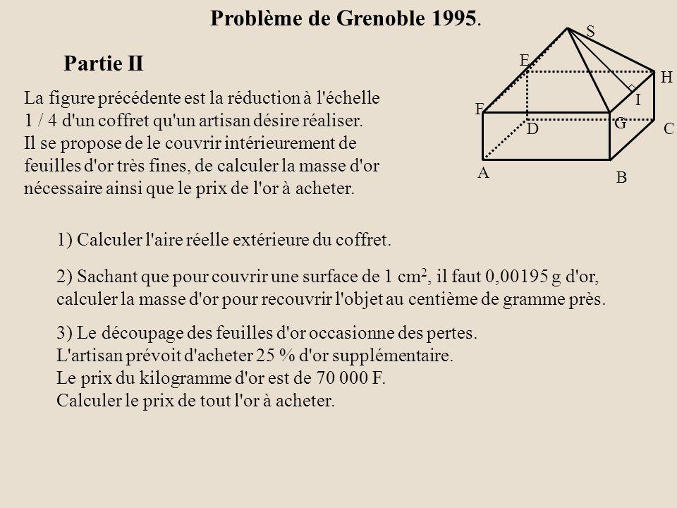 Problème de Grenoble 1995. Partie II
