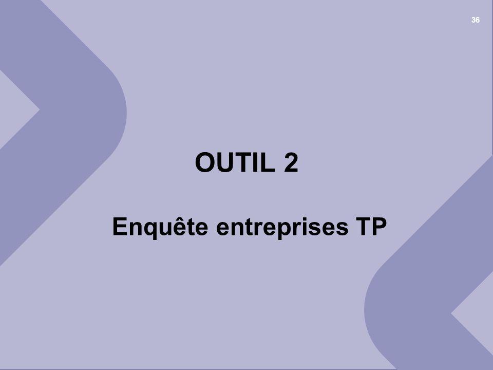 OUTIL 2 Enquête entreprises TP