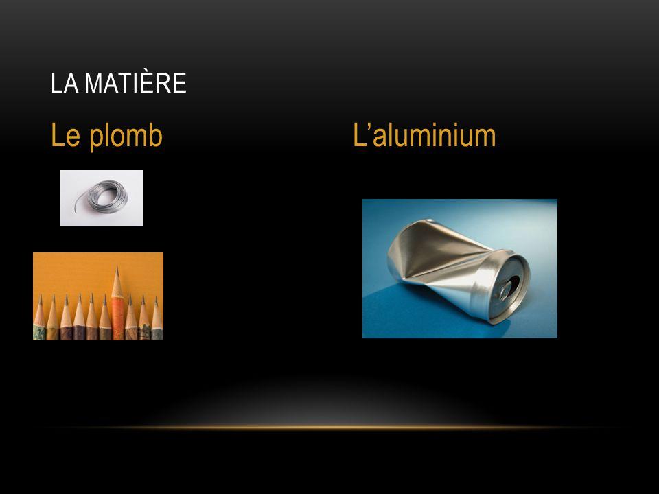 La matière Le plomb L'aluminium