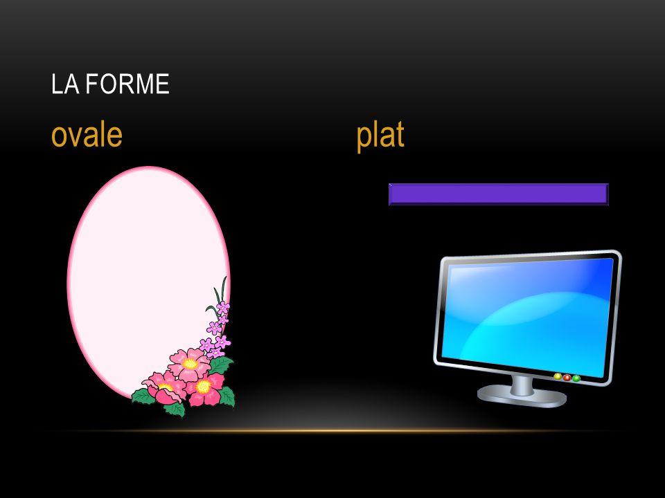 La forme ovale plat