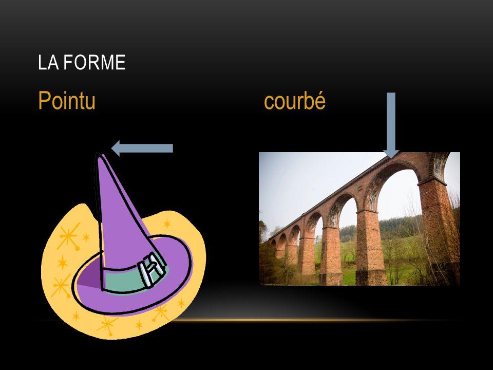 La forme Pointu courbé